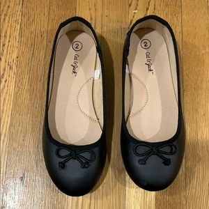 Cat and Jack Worn Once Black Flats Girls Size 2